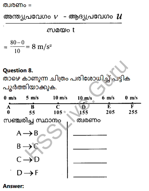 Kerala Syllabus 8th Standard Basic Science Solutions Chapter 9 Motion in Malayalam 12