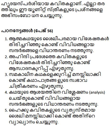 मान-सम्मान मिले नारी को Summary in Malayalam 2