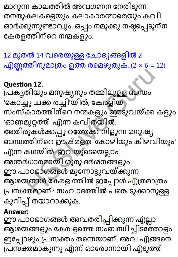 Kerala SSLC Malayalam Model Question Paper 1 (Adisthana Padavali) 13