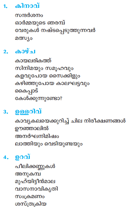 Plus One Malayalam Textbook Answers, Notes, Chapters Summary