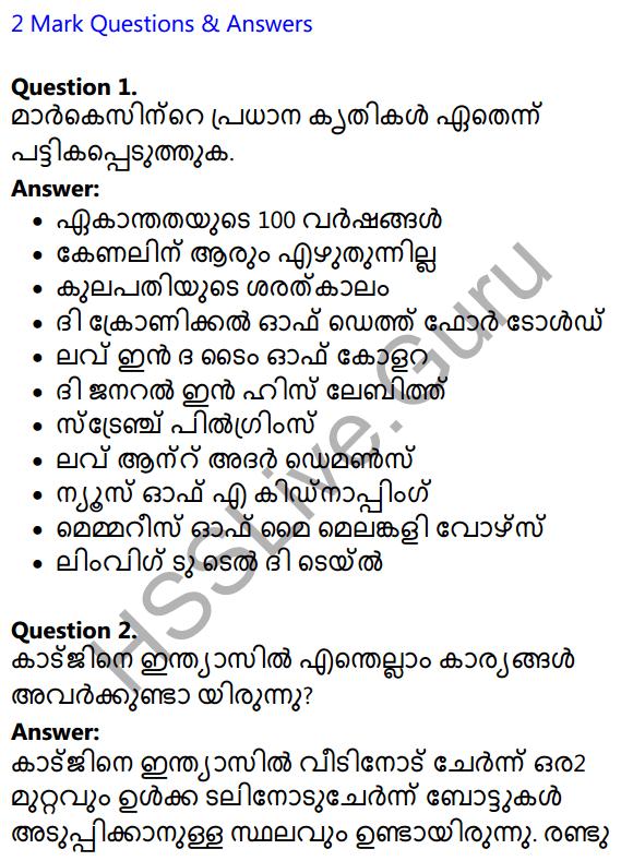 Plus Two Malayalam Textbook Answers Unit 1 Chapter 2 Prakasam Jalam Pole Anu 1