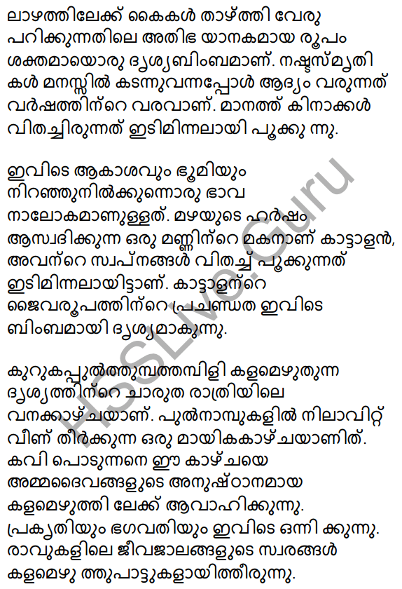 Plus Two Malayalam Textbook Answers Unit 1 Chapter 3 Kirathavritham 22