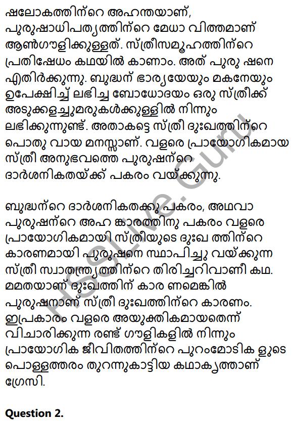 Plus Two Malayalam Textbook Answers Unit 3 Chapter 2 Gauli Janmam 22