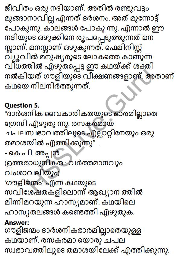 Plus Two Malayalam Textbook Answers Unit 3 Chapter 2 Gauli Janmam 35