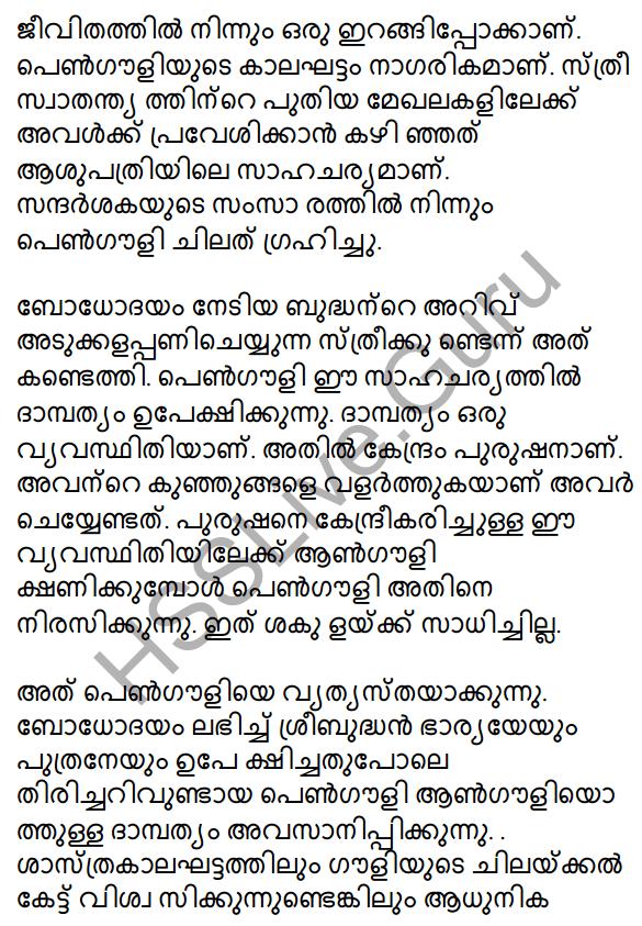 Plus Two Malayalam Textbook Answers Unit 3 Chapter 2 Gauli Janmam 57