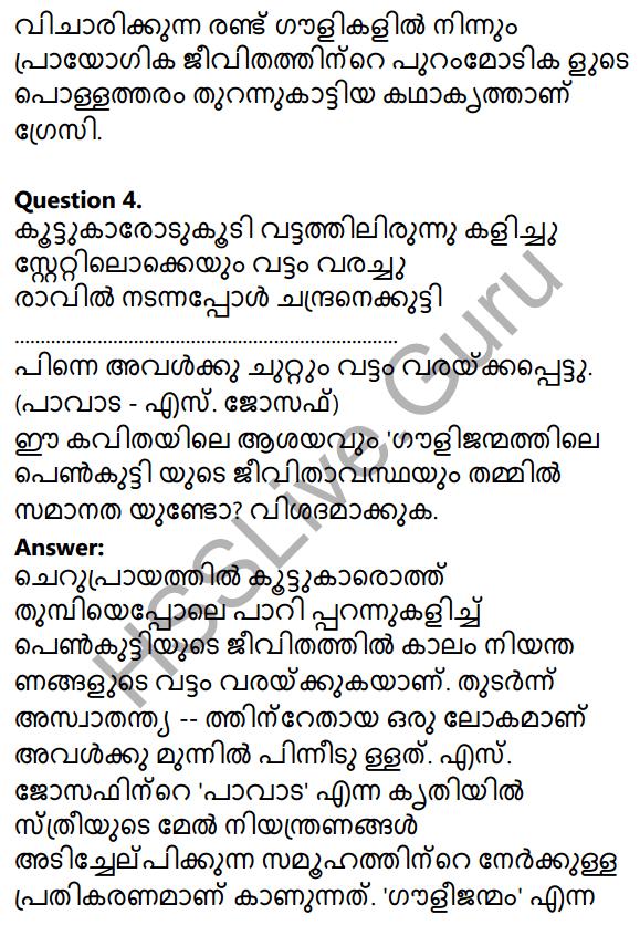 Plus Two Malayalam Textbook Answers Unit 3 Chapter 2 Gauli Janmam 66