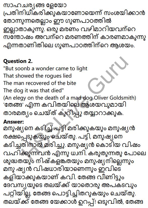 Plus Two Malayalam Textbook Answers Unit 3 Chapter 3 Thenga 4