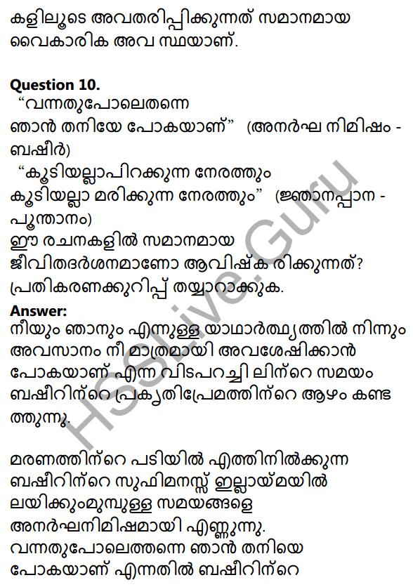 Plus One Malayalam Textbook Answers Unit 3 Chapter 3 Anargha Nimisham 25