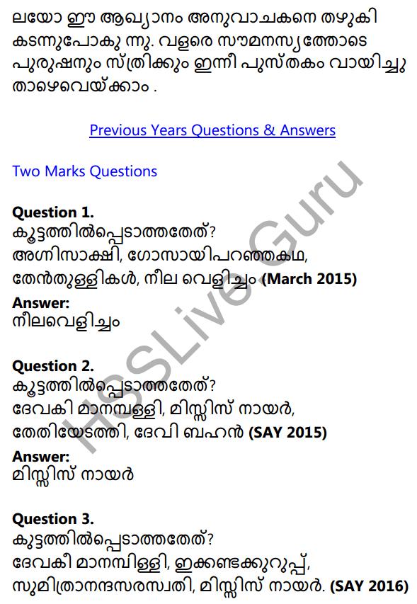 Plus One Malayalam Textbook Answers Unit 3 Chapter 4 Lathiyum Vediyundayum 22