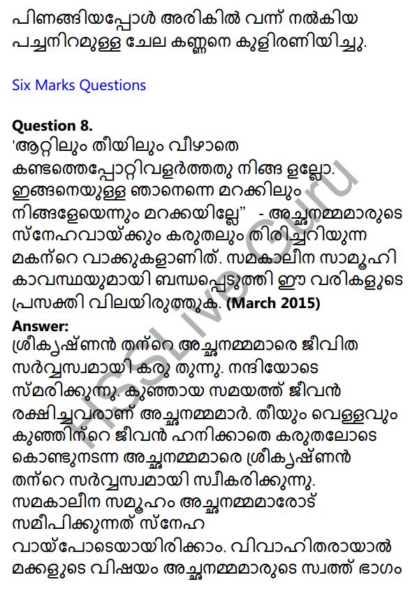 Plus One Malayalam Textbook Answers Unit 4 Chapter 1 Peeli Kannukal 37