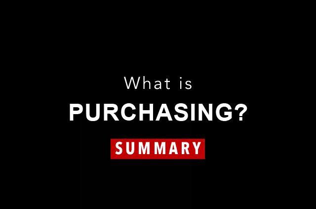 Purchasing