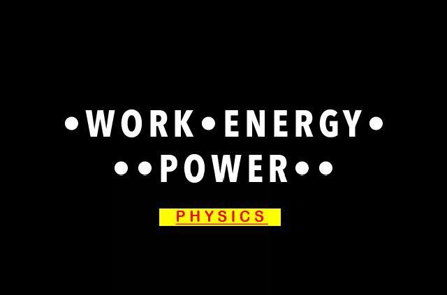 Work, Energy