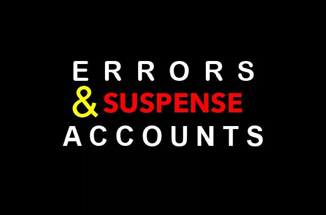 Errors And Suspense Accounts