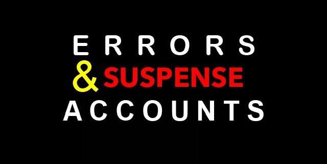 Errors And Suspense Accounts