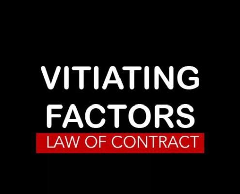 Vitiating Factors