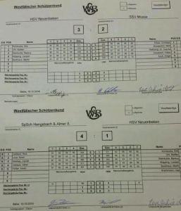 Ligawettkampf 1&2 2015