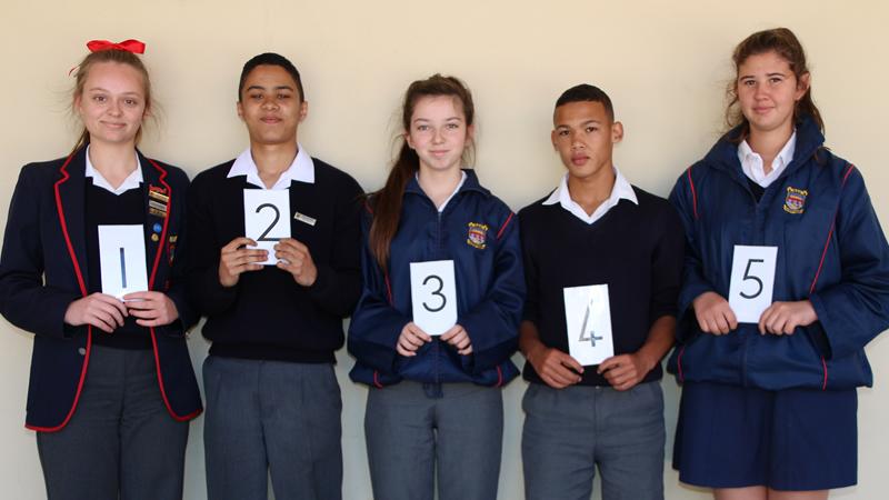 Top 5 leerlinge in elke Graad vir die 3 de Kwartaal