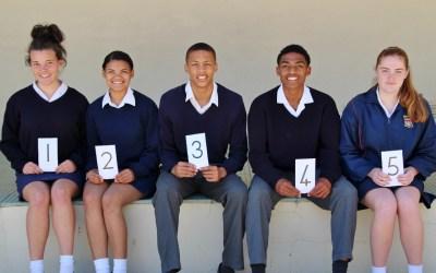 Top 5 leerlinge in elke Graad vir die 3de Kwartaal 2018