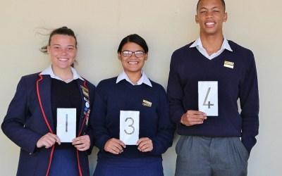 Top 5 leerlinge in elke Graad vir die 1ste Kwartaal 2019
