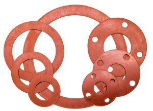 red rubber gaskets and seals