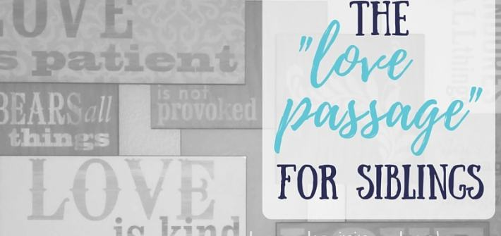 """The """"Love Passage"""" for Siblings - What 1 Corinthians 13 means for brothers and sisters"""