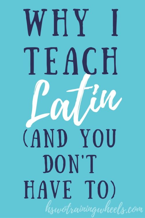 Are you thinking about teaching your kids Latin? Are you feeling the pressure? You might not have to!