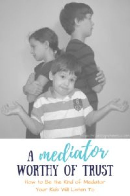 If you are a mother of siblings, you are going to find yourself playing the mediator. How you perform this delicate task is of immense importance!