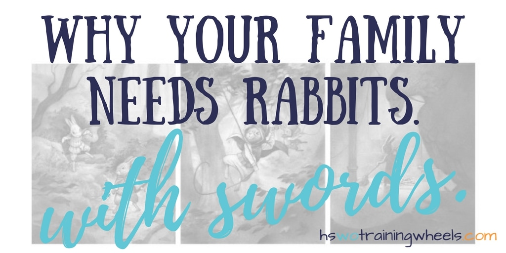 Why Your Family Needs Rabbits. with Swords.