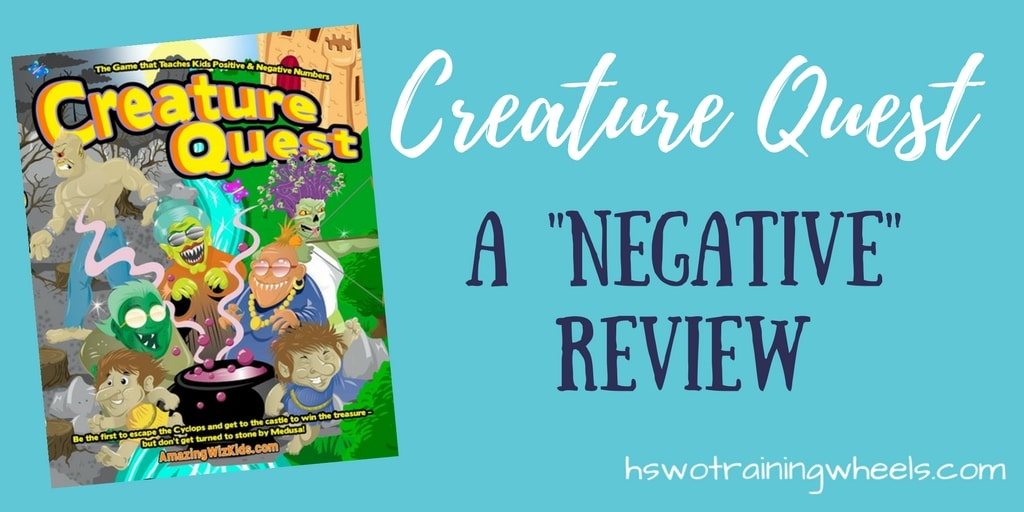 "Creature Quest: A ""Negative"" Review"