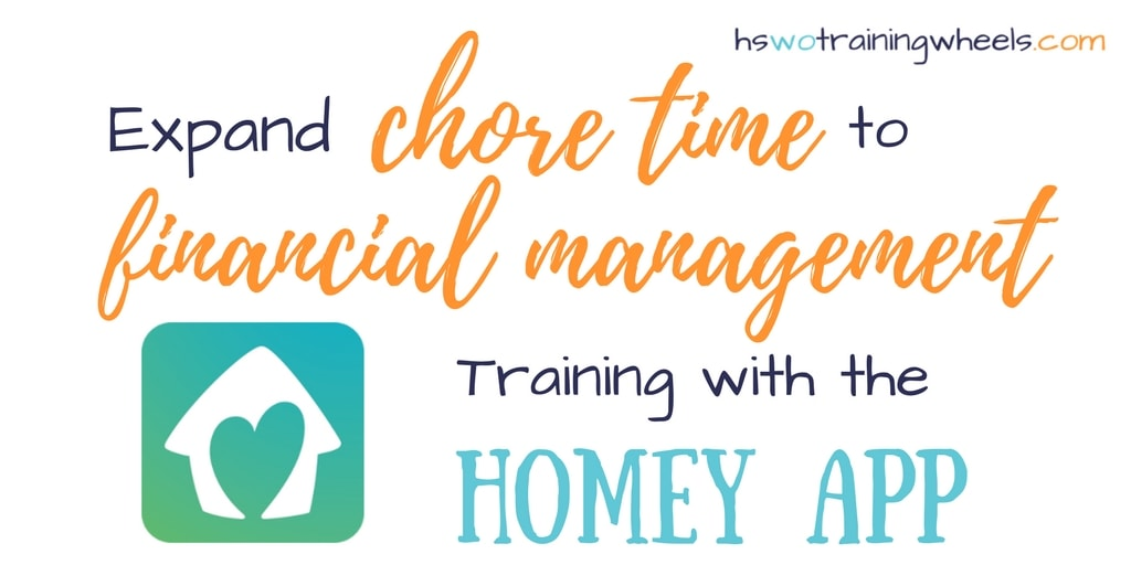 Expand Chore Time to Financial Management Training with the Homey App