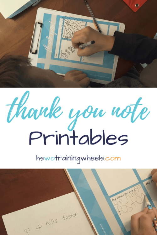 Help your children write a thank you note for their Christmas, birthday, or other gifts with these free printable thank you note templates to download.