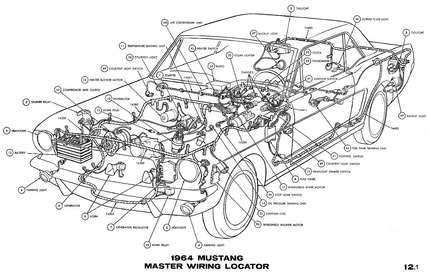 Wiring Diagrams For 64 1 2 Mustang Instruement Cluster