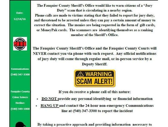 Another renewed scam effort. Be on the lookout as …