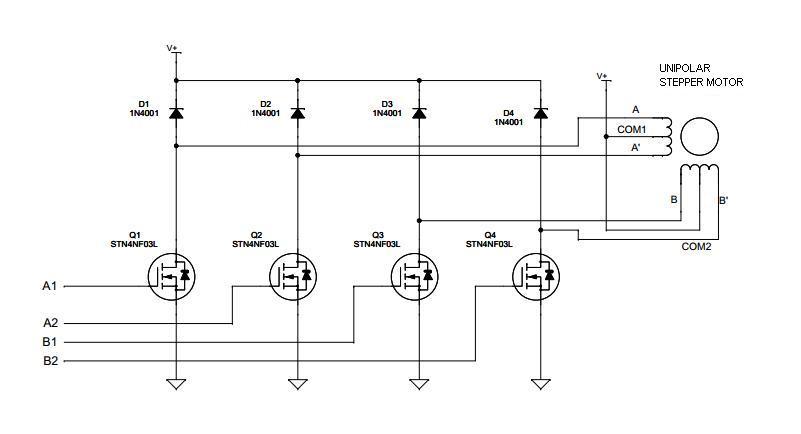 Motor Paso a Paso | Aprenndo Arduino on bipolar stepper motor schematic, motor control circuit schematic, servo motor schematic, unipolar stepper driver schematic, stepper motor controller schematic,
