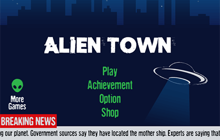 Alien Town HTML5 Featured