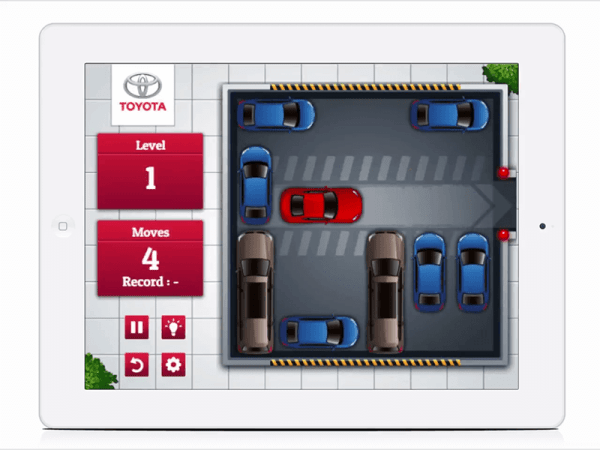 Bespoke HTML5 Games for Car Manufacturers Toyota Puzzle Game