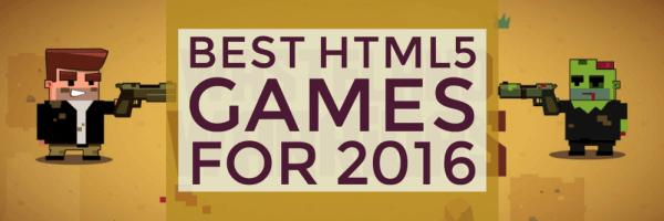 Best HTML5 games 2016 banner