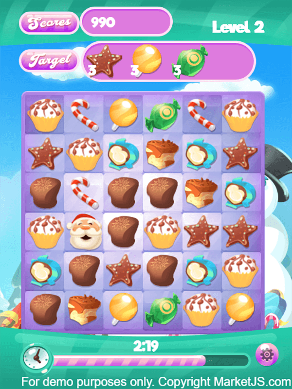Candy Christmas HTML5 Gameplay