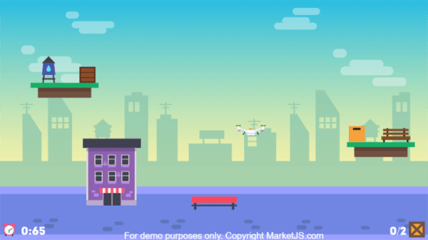 Drone Pickup Service HTML5 Gameplay