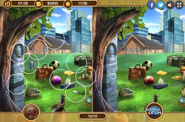 Lucky Dog Hidden Object Game spot the difference