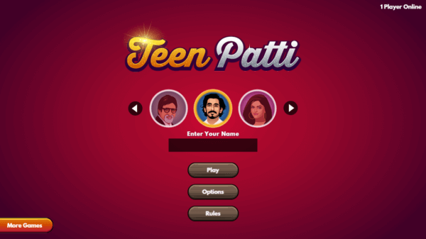 Teen Patti bollywood avatars
