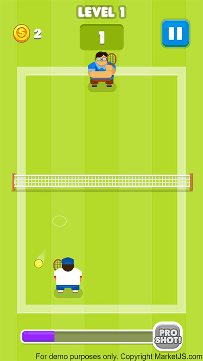 Tennis is War HTML5 gameplay