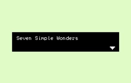 Seven Simple Wonders