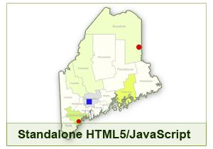 Interactive Map of Maine - HTML5/JavaScript