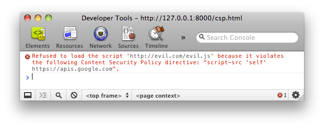Content Security Policy Example