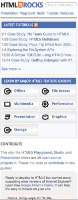 Mobile html5rocks.com