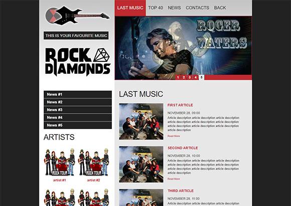 Rock portal single page layout Script Tutorials
