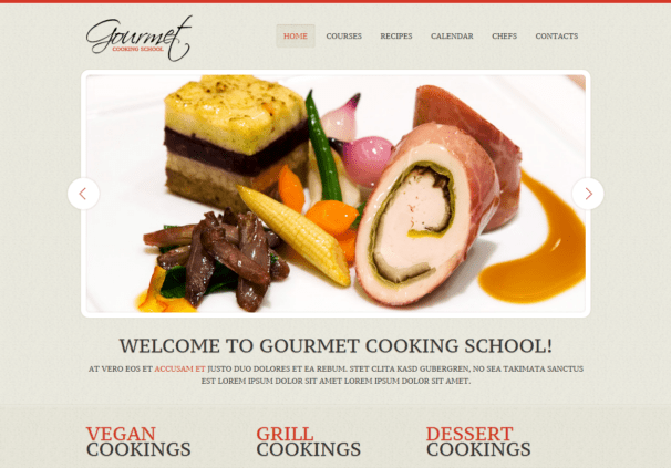 Gourmet theme [Free Html5 and Css3 Templates]