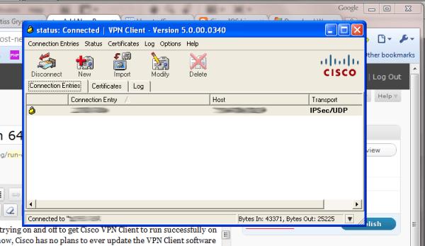 Run Cisco VPN Client in 64-bit Windows 7 - HTMLCenter Blog