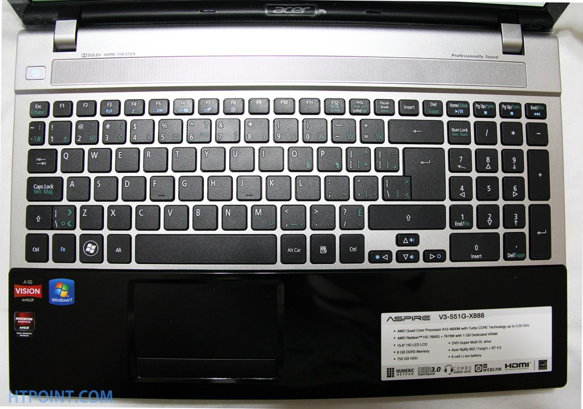 acer top view